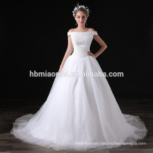2017 High Quality Cheap Price White Chiffon Sequins Off-shoulder Evening Long Dress For Wedding Party
