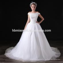 2017 de alta qualidade preço barato branco chiffon lantejoulas off-ombro evening long dress para festa de casamento