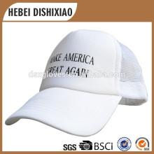 Großhandel gute Qualität Custom Blank White Net Hut, Trucker Mesh Caps, machen Amerika Great Again Caps und Hüte