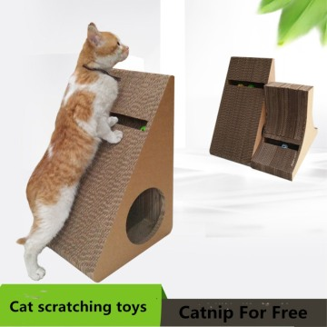 Wedge Shaped Corrugated Scratcher jouets de chats