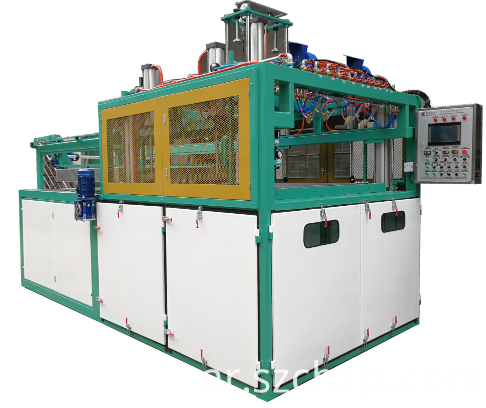 Multi function thick plastic sheet vacuum forming machine