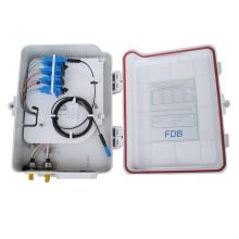 Com cabide 4ports ftth caixa de terminais de fibra óptica