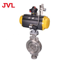 wafer Pneumatic Double Triple Eccentric Butterfly Valve