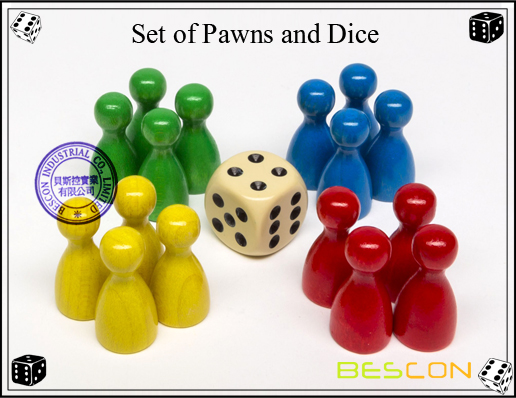 Set of Pawns and Dice