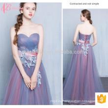 Западный Стиль Длинные Фиолетовые В Наличии Кружева Аппликация Off-Плечо Платье Невесты