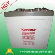 Bateria de gel de energia profunda de energia solar de alta capacidade 1500ah 2V