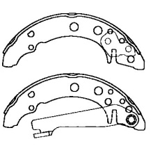 Volkswagen Derby brake shoes 867 609 528