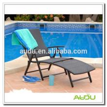Audu Открытый складной стул для бассейна из ротанга