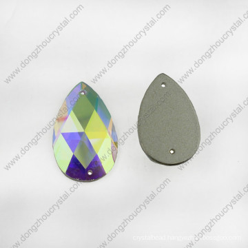 Drop Glass Jewelry Stone Flat Back for Wholesale