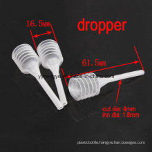 Plastic Cosmetic Dropper/Perfume Dropper Made in China/ Baby Medicine Dropper