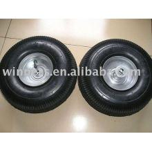 Roda de borracha pneumática dura e moles