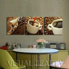 Pintura de la lona del cuadro del café de la decoración casera moderna para el sitio de cena