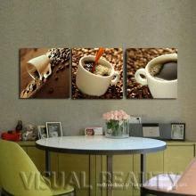 Decoração Home moderna Pintura do retrato da lona do café para o quarto do jantar