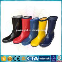 CE colorful PVC kids rain boots & rubber rain shoes