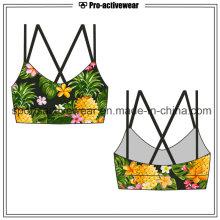 OEM de alta calidad baratos nuevo diseño Sublimación Sexy Ladies Sport Bra