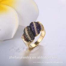 Anillo de chapado negro de moda al por mayor del fabricante del anillo de China