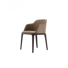 Poliform Armrest Leather Grace Dining Chair