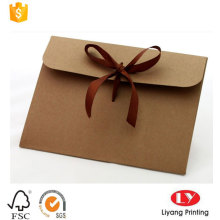 Bulk Custom Kraft Paper Kuvert med Ribbon