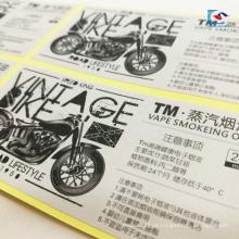 E-cigarro óleo de fumar adesivos impressão papel de arte de forma diferente etiqueta auto-adesiva