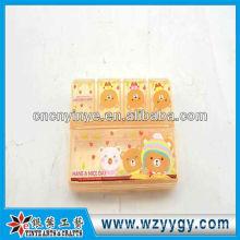 OEM rectangular plástico impreso pastillero para viaje de negocios o viajes