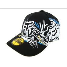 Racing Cap 100% coton Allover Impression Caps Curve Peak Hip Hop Dance