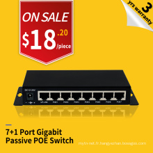 10/100 / 1000Mbps 8 ports passif standard non poe switch pour caméra IP