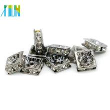 Wholesale IA0303 Nickel Black Tone Plating Suit Bracelets Large Hole Rhinestone Spacer Beads