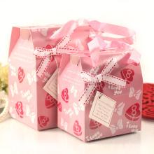Nouvelle boîte faite sur commande d'emballage de cadeau de papier de conception avec le ruban
