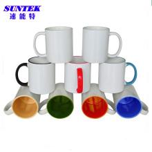 11 унций Мульти Цвет C-ручки керамическим покрытием сублимации кружка кофе