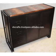 Industrial Metal Sideboard with Recycled wood sideboard