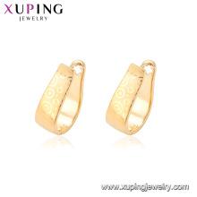 95122 Xuping bijoux en gros modèle de conception simplement style or huggies boucles d'oreilles