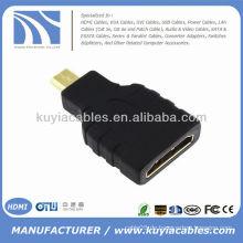 Gold überzogene HDMI Frau zum Mikro-HDMI männlichen Adapter Koppler