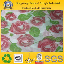 Rose Flower Design Printed Nonwoven Fabric