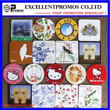 Mejor vendido logotipo impreso de primera calidad Cork Coaster (EP-C57301)