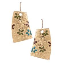 Vintage de lujo de oro étnico diseño simple pendiente