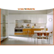 Combinação de cores design mfc armário de cozinha armário de cozinha de economia de espaço para cozinha pequena