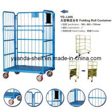 Carga de almacén utilizada Despliegue del contenedor de almacenamiento de la jaula de metal