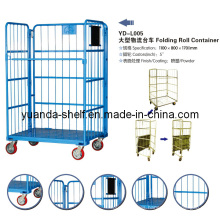 Warehouse Cargo Used Rolling off Metal Cage Storage Container