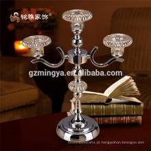 Decoração chinesa design especial peça de decoração metal metal vela vela