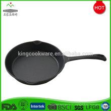 Poêle à frire antiadhésive ronde en fonte à long manche