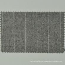 Natural enviormental friendly beige stripe color merino wool Italian brand Loro Cadini fabric for men's cloths