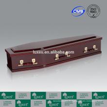 LUXES Style australien MDF cercueils avec papier en acajou