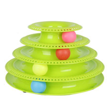 Tower of Tracks Ball and Track Interactive Toy for Cats Crazy Fun Cat Game Four 4 Layers Tower Track With Balls Bells Cat Towers