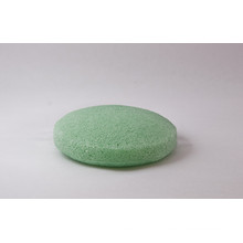 Outils de nettoyage de visage Green Round Konjac Sponge