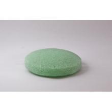 Ferramentas de limpeza de rosto Green Round Konjac Sponge