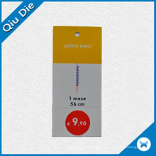 Simple Price Paper Tag / Printed Colorful Label for Price