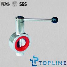 Válvula Borboleta sanitária de aço inoxidável com puxador