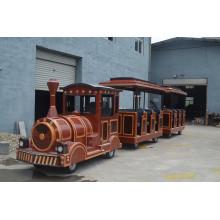 Tren eléctrico antiguo sin rieles