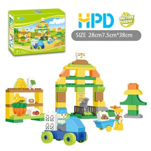 69 PCS Building Blocks Escena de la granja