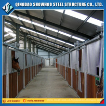 estructura de acero caballo establo fabricación vertiente diseño